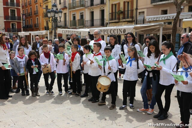 Young Performers at the Plaça de la Font in Tarragona