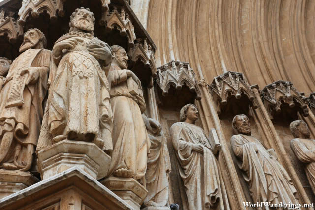 Statues Adorning the Gate of the Cathedral of Tarragona
