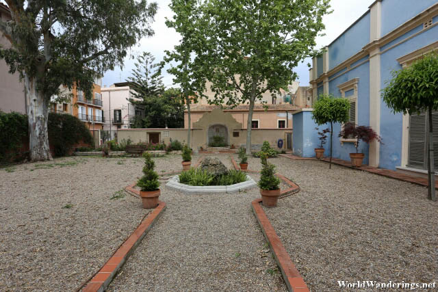 Small Garden at the Roof of Casa Canals in Tarragona