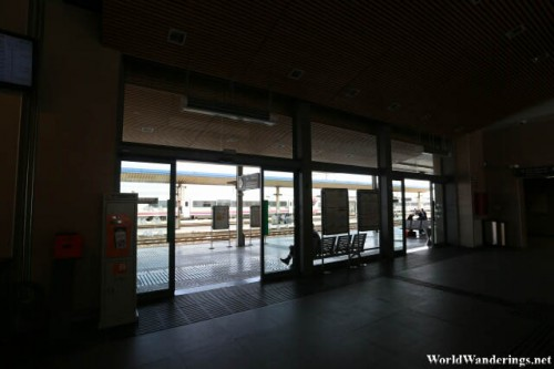 Waiting Inside the Tarragona Railway Station