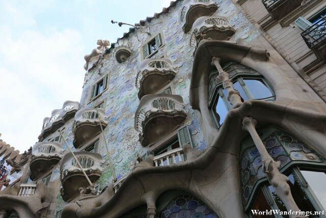 Closer Look at the Casa Batlló in Barcelona