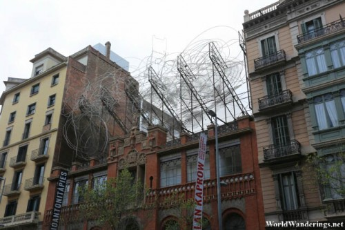 Art at a Building in Barcelona