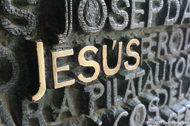Names of Biblical Figures Carved on the Door of the Passion Facade of the Sagrada Familia