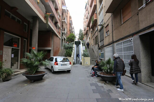 Making Our Way Up to Park Güell in Barcelona