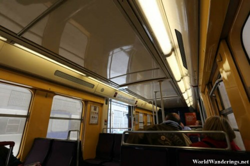 Inside the Commuter Train From Charles de Gaulle Airport to Paris