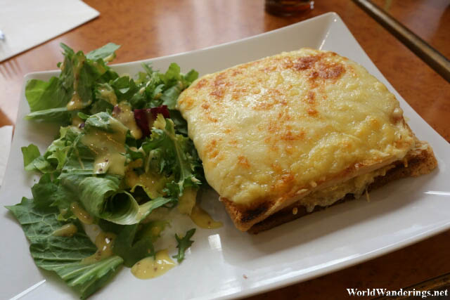 Croque-monsieur at La Royale in Paris