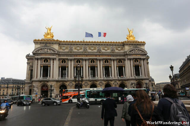 Walking Toward the Paris Opera