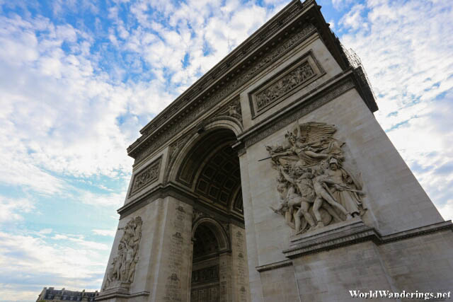 Another Angle of the Arc de Triomphe in Paris