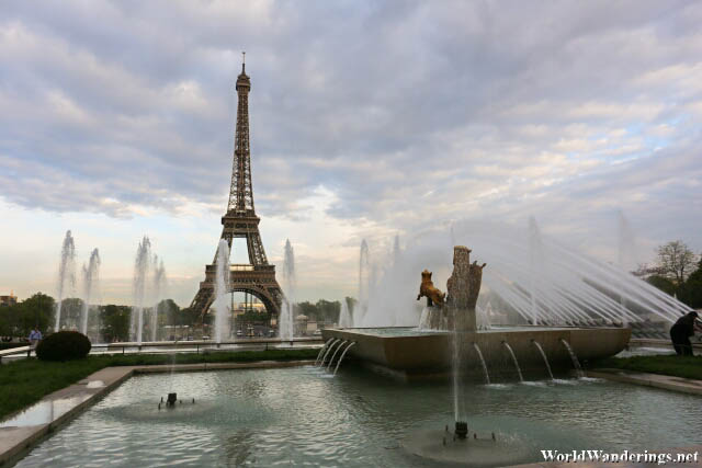 Eiffel Tower and the Trocadero Gardens
