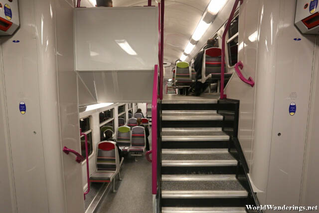 A Look Inside a Double Decker Train in Paris