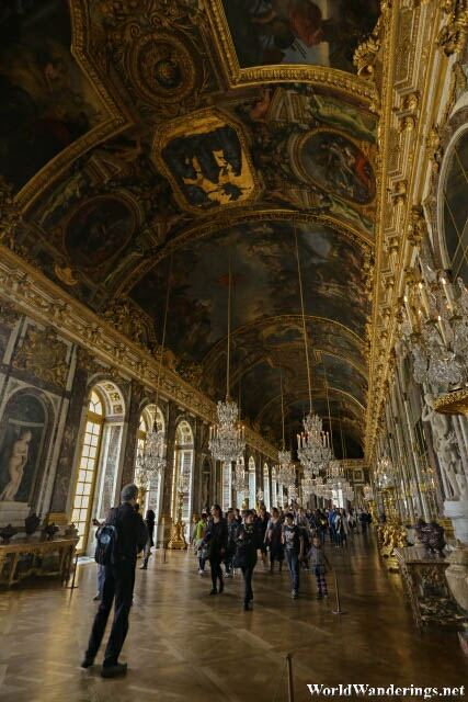 Magnificent Hall of Mirrors at the Palace of Versailles
