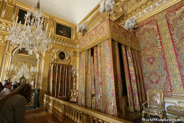 Royal Bedroom of Louis XIV at the Palace of Versailles