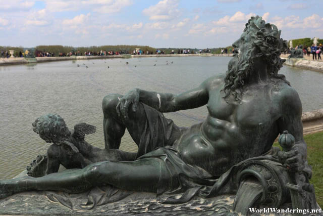 One of the Sculptures in the Garden at the Palace of Versailles
