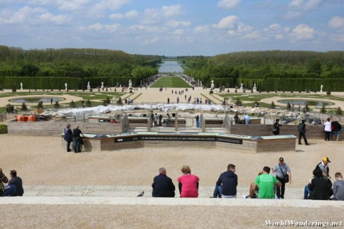 Fountain Under Construction in the Gardens of Versailles