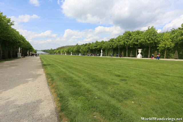 Walking Along the Gardens of Versailles