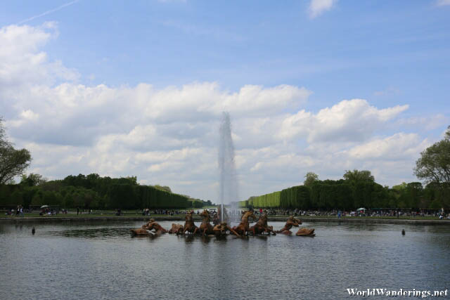 Closer Look at the Fountain at the Bassin d'Apollo