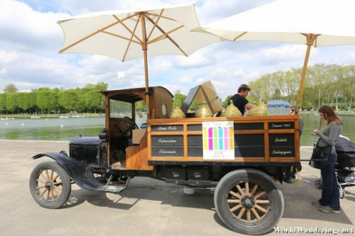 Ice Cream Truck at the Gardens of Versailles