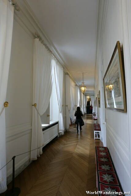 Walking Down the Halls of the Grand Trianon at the Palace of Versailles