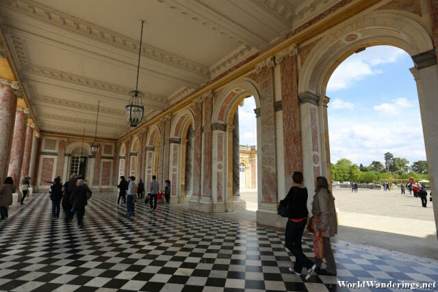 Outside the Grand Trianon at the Palace of Versailles