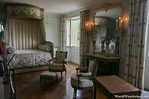 Bedroom of the Queen Marie Antoinette at the Petit Trianon
