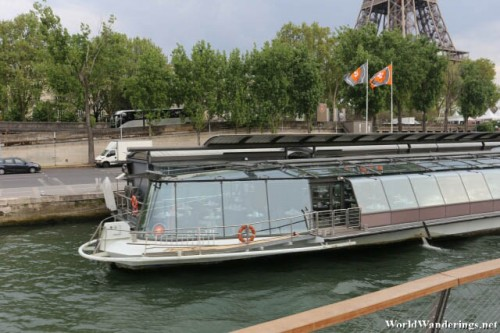 One of the Fancier River Cruise Boats Along the River Seine