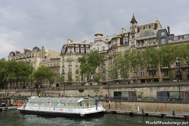 Beautiful Buildings Along the River Seine in Paris