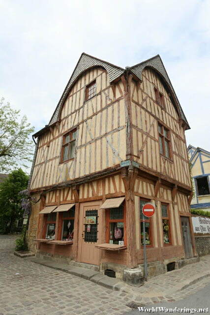 Charming French House at the Provins Town Square