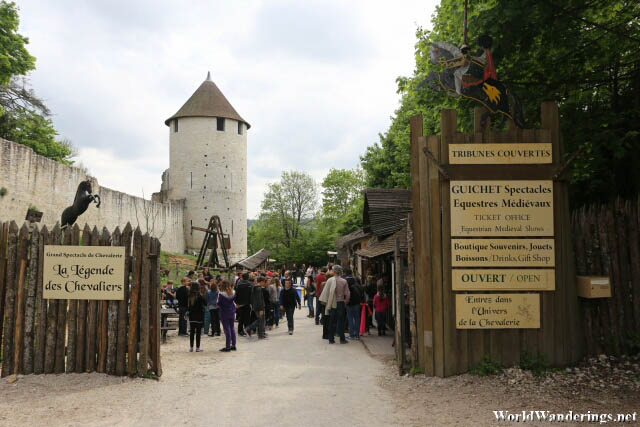 Entering the Performance Area of the La Légende des Chevaliers in Provins