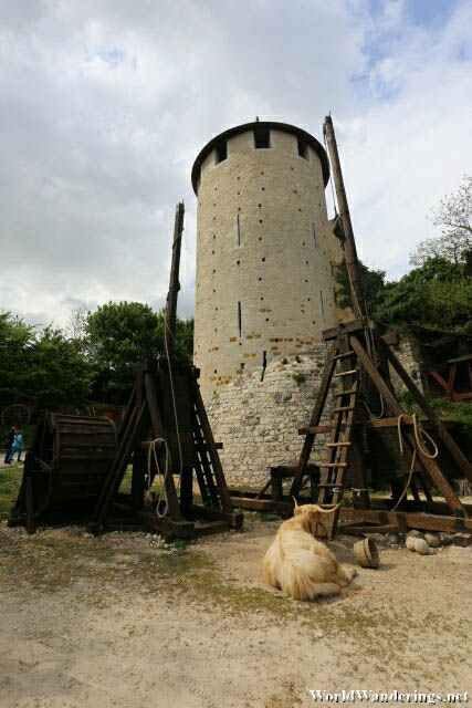 Tower at the Performance Area in Provins