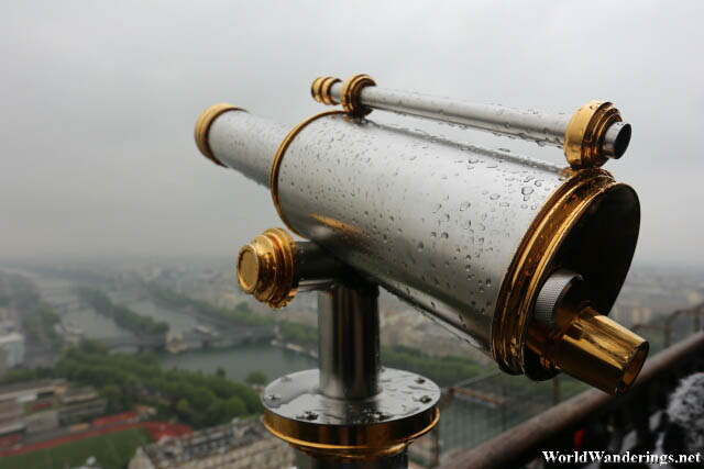 Beautiful Viewing Telescope at the Eiffel Tower