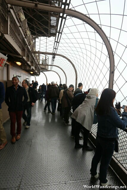Viewing Deck on Top of the Eiffel Tower