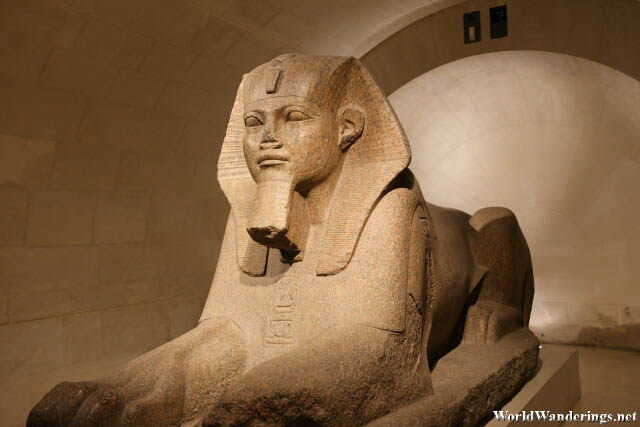 The Sphinx at the Louvre Museum in Paris