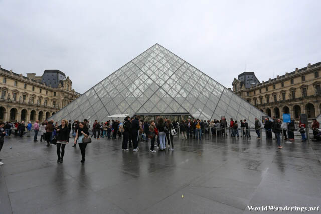Louvre Pyramid at the Louvre Museum