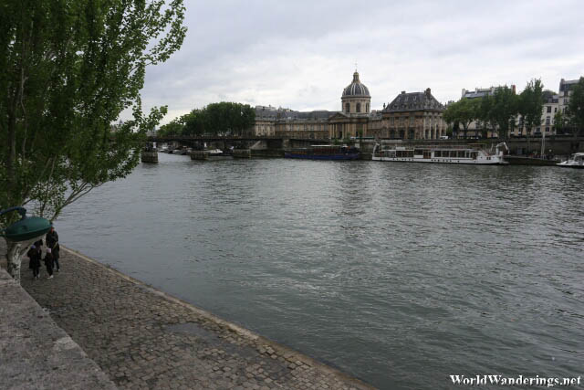 Walking Along the River Seine in Paris