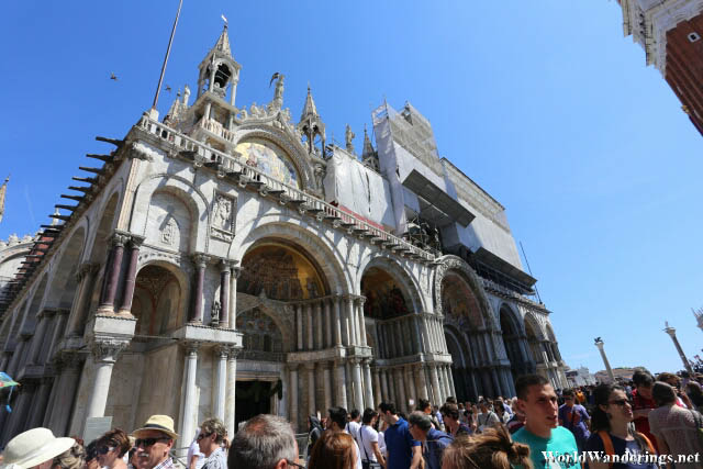 In Front of the Saint Mark's Basilica in Venice