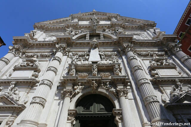 Impressive Baroque Facade of San Moisè Church in Venice