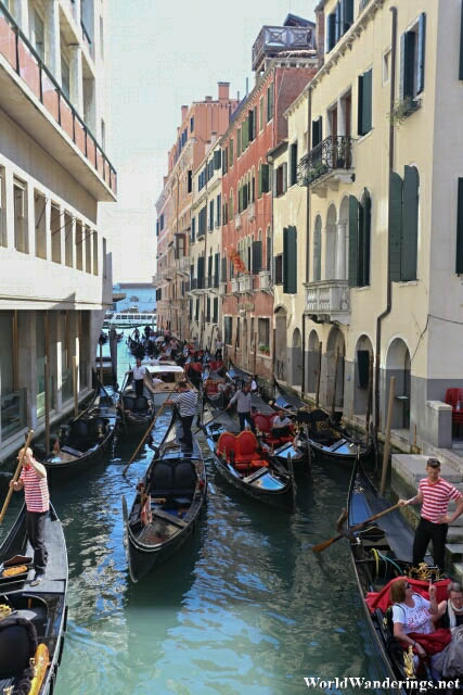 Busy Waterway in Venice