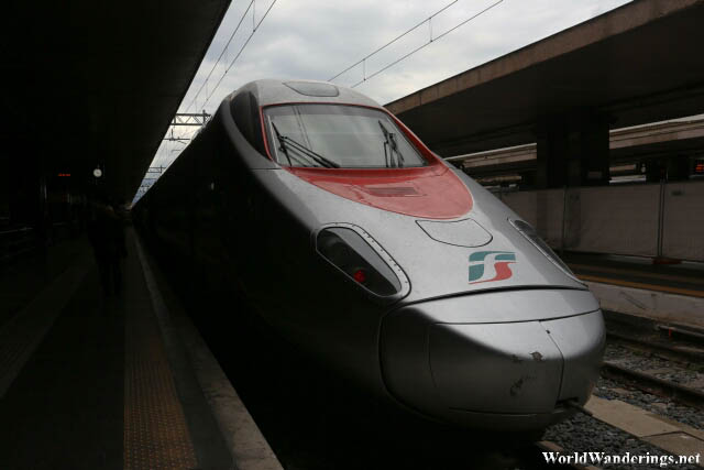 Frecciargento Trenitalia Train from Venice to Rome