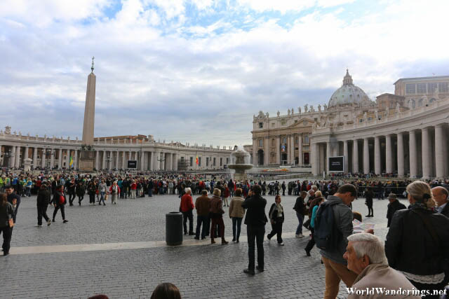 Massive Amount of People at Saint Peter's Square at the Vatican City and They Still Fit