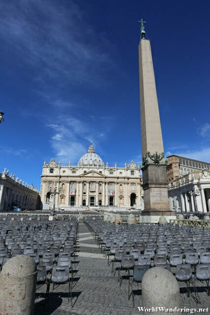 Obelisk and Saint Peter's Basilica in Rome
