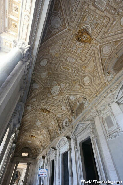 Impressive Work on the Ceiling at Saint Peter's Basilica at the Vatican City