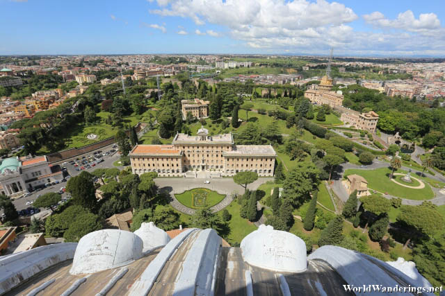 Some Buildings at the Vatican City from the Dome of Saint Peter's Basilica