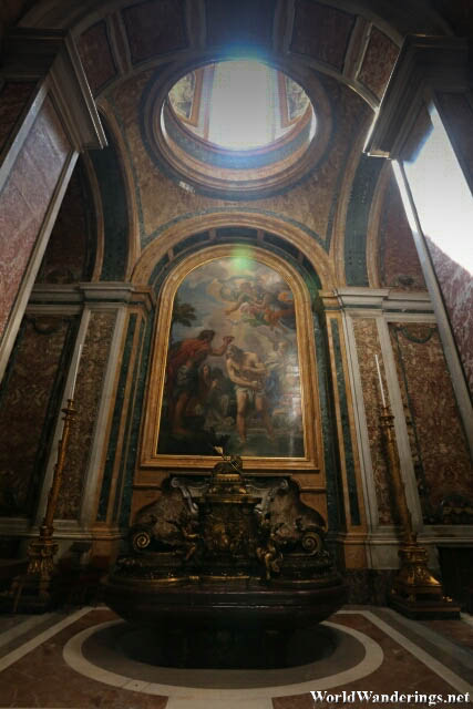 Impressive Art at the Saint Peter's Basilica at the Vatican City