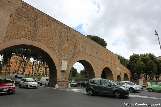 Ancient Aqueduct at Castel Sant'Angelo in Rome