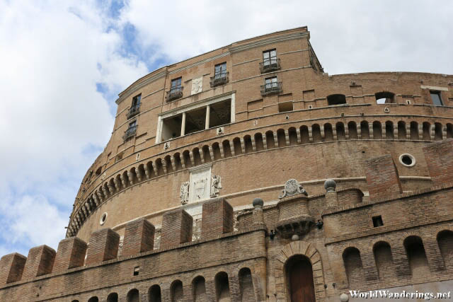 Close Up of the Castel Sant'Angelo in Rome