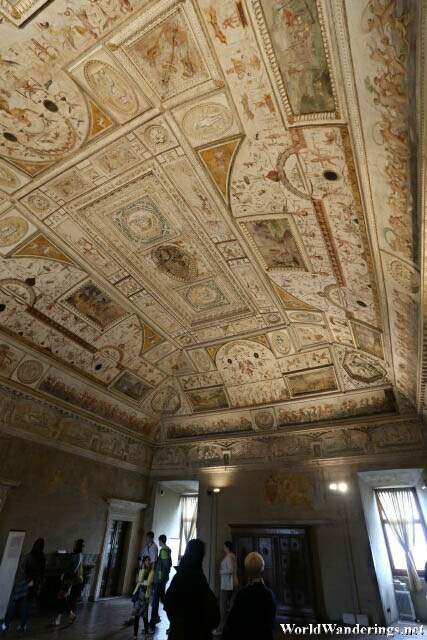 Impressive Ceiling at the Castel Sant'Angelo