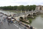 A Look at the Tiber River from Castel Sant'Angelo