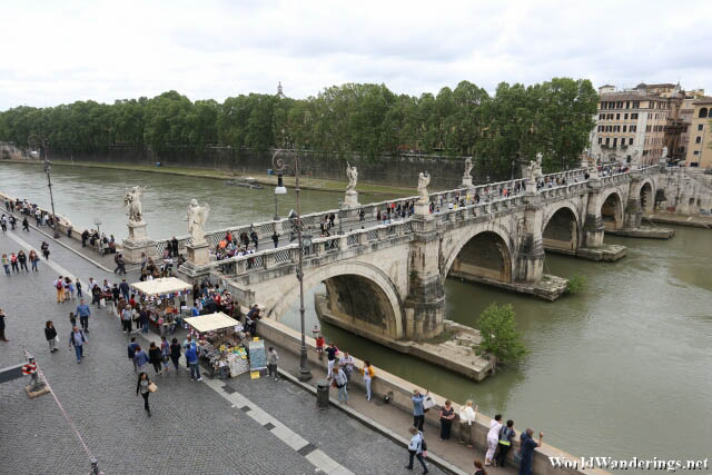 Bridge Over the River Tiber in Rome
