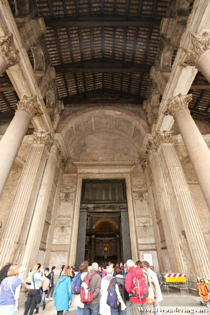 Corinthian Columns of the Roman Pantheon in Rome