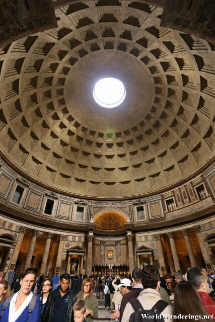 Dome of the Roman Pantheon in Rome
